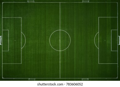 Football field from above. training field, Aerial view.