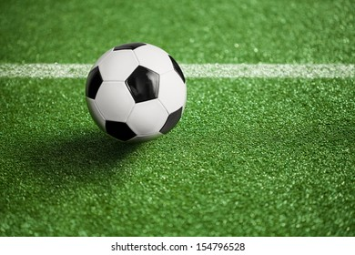football field and ball