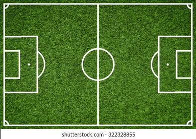 Football field, Closeup image of natural green grass soccer field