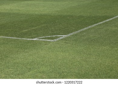 football field with corner white line