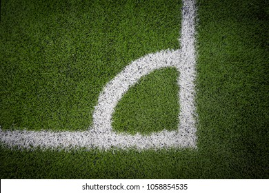 Football field flag corner
