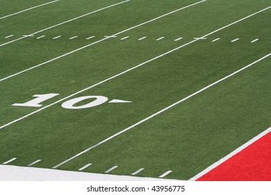 Football field grass and yard lines
