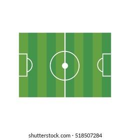 Football field illustration on the white background.  illustration