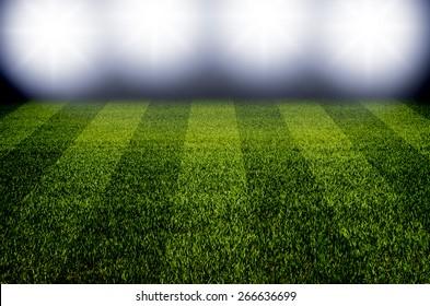 Football field at night