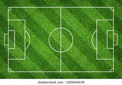 Football field or soccer field for background. Green lawn court for create sport game.