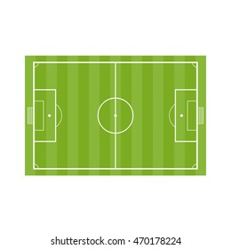 Football field. Soccer field in flat style isolated on a white background