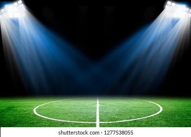 Football field with Spotlight