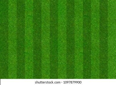 A football field with a stripe pattern