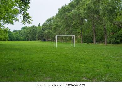 Football field in summer