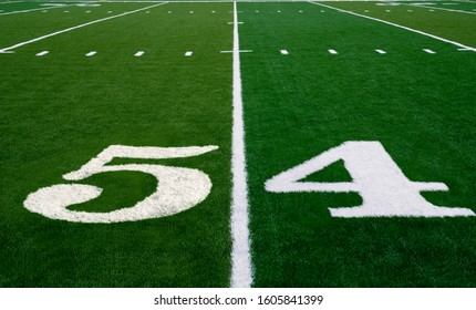 Football field symbolizing the big game in 2020