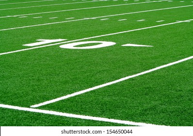 Football field ten yard line
