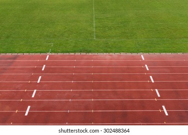 Football field and track.
