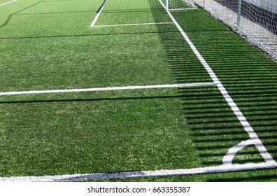 Football fields.