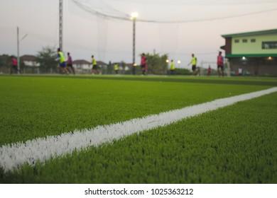 Football Fields in Thailand (Photo Blur)