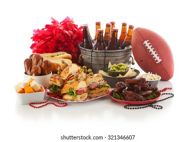 Football: Game Day Food And Stuff Ready For Party