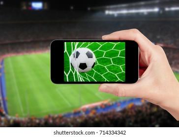 football game on mobile phone