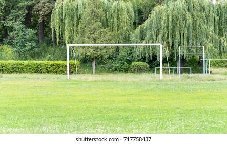 Football gates at the village stadium.