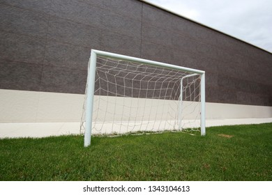 Football goal and net