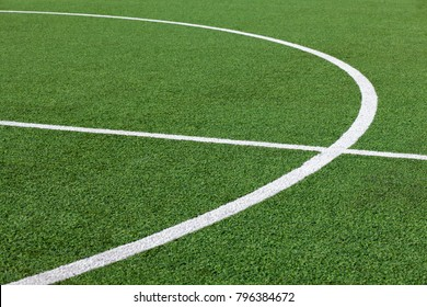 Football ground, grass and lines