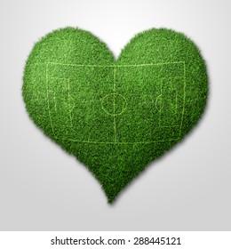 Football, Heart from Grass
