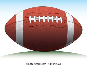 Football is an illustration of a Football used in American type football.