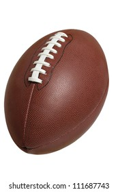 Football isolated on white with clipping path