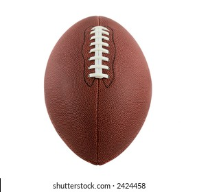 Football Isolated on White, Front View