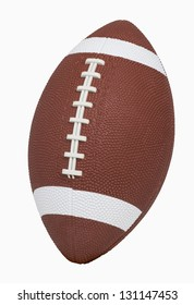 Football isolated on white, includes clipping path