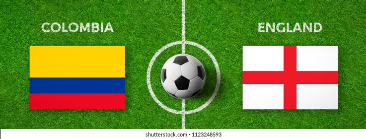 Football match Colombia vs. England
