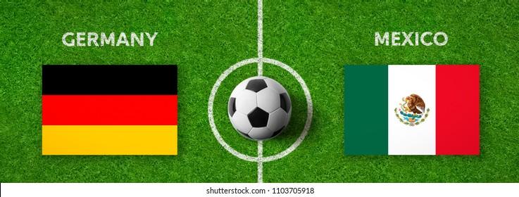 Football match Germany vs. Mexico