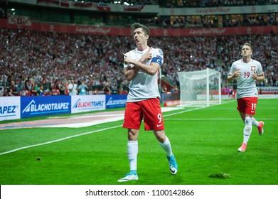 Football match of Poland vs. Romania at PGE Narodowy, Warsaw on 10/06/2017, Robert Lewandowski