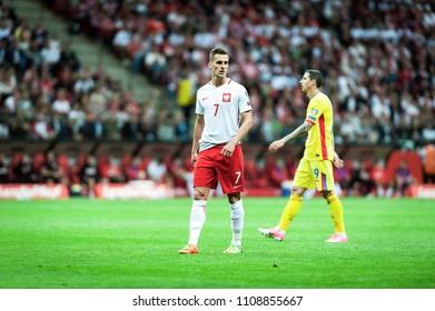 Football match of Poland vs. Romania at PGE Narodowy, Warsaw on 10/06/2017, Arkadiusz Milik