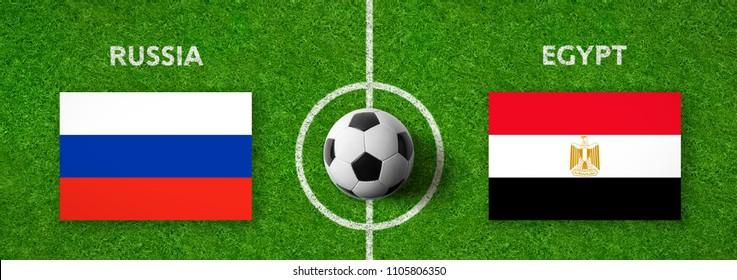 Football match Russia vs. Egypt