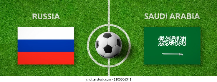 Football match Russia vs. Saudi Arabia