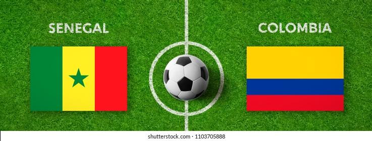 Football match Senegal vs. Colombia