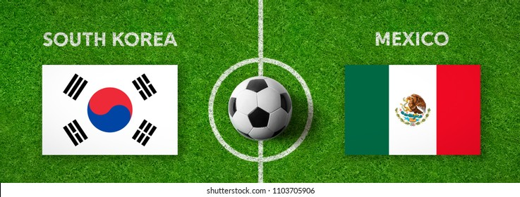 Football match South Korea vs. Mexico
