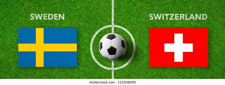 Football match Sweden vs. Switzerland
