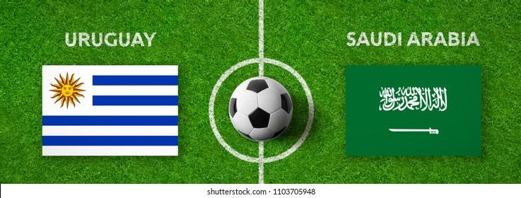 Football match Uruguay vs. Saudi Arabia