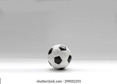 football mini on white background