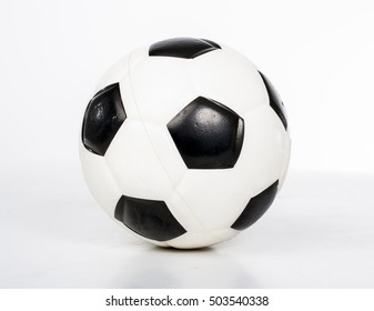 Football mini toy. Football sport game illustration. ball, soccer, football, white, sport, goal, black, object, up, close, indoors, photo, new, background, closeup, standard, isolated, leisure, kick,