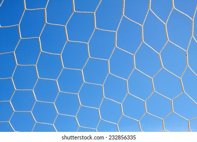football net and blue sky background