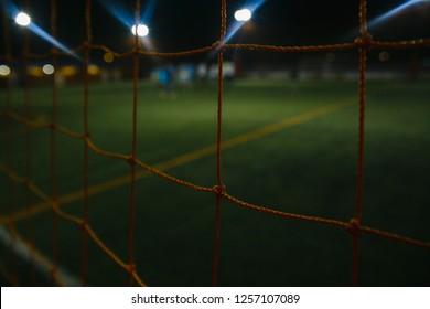Football net on football stadium.Safety net