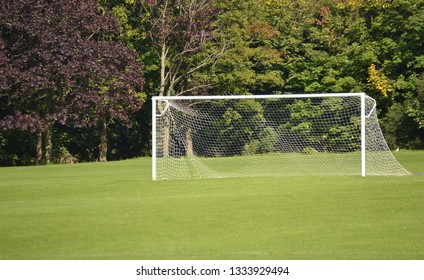Football net post in green park- Image