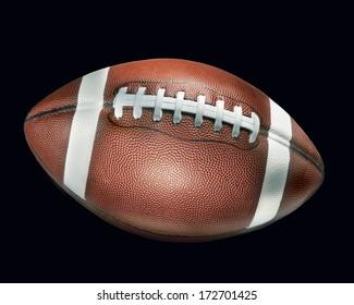 football on black