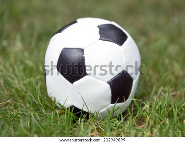 Football on grass / Football