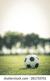 Football on the soccer field