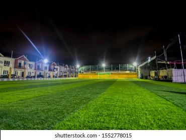 Football pitch taken at night