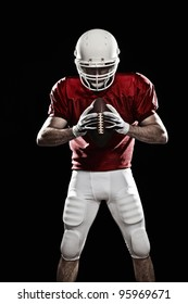 Football Player with a red uniform