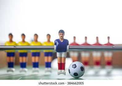football players foosball
