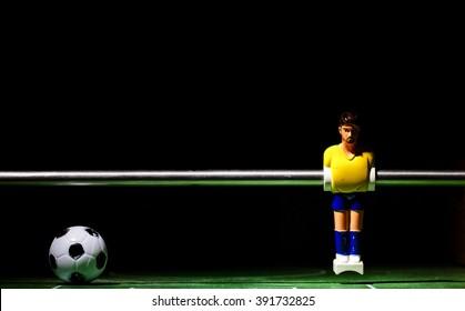 football players foosball